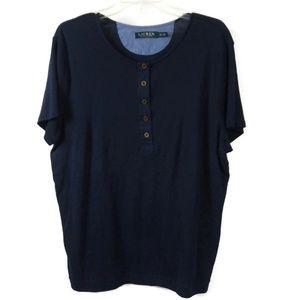 LAUREN Ralph Lauren 2X Womens Button Up Blouse